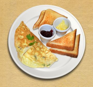 Tomato & Cheese Omelette