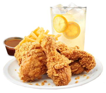 Fried Chicken (4 Pcs) (with Fries & Lamonade)